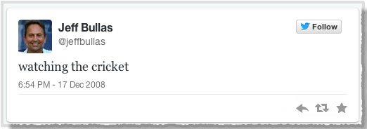 Jeffs first tweet